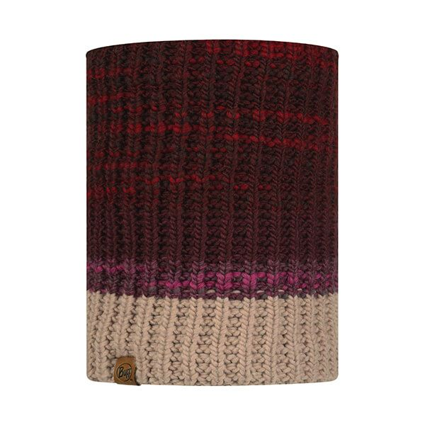 Buff Alina Rusty Maroon Knitted & Fleece Neckwarmer