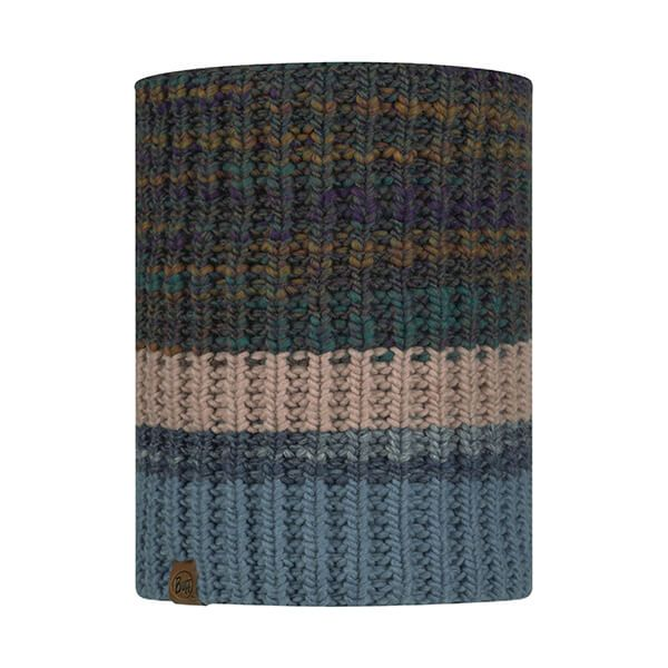 Buff Alina Rusty Blue Knitted & Fleece Neckwarmer