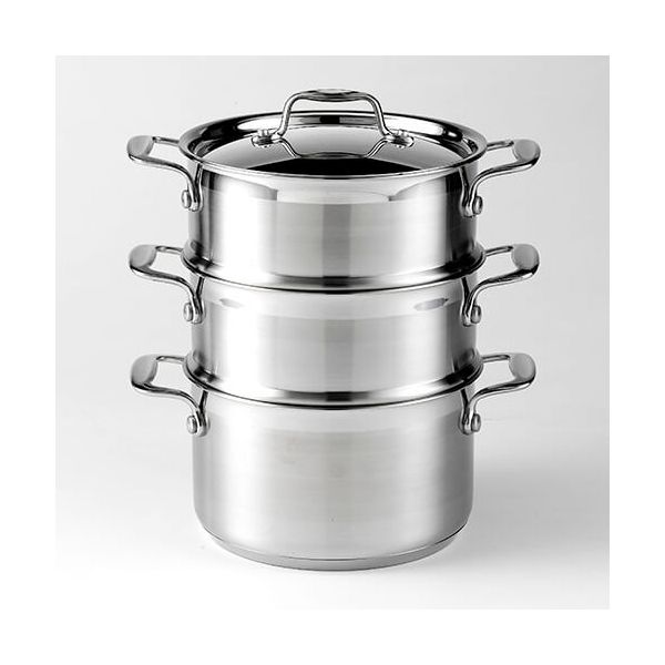 Dexam Supreme 18cm Stainless Steel 3 Tier Steamer Set