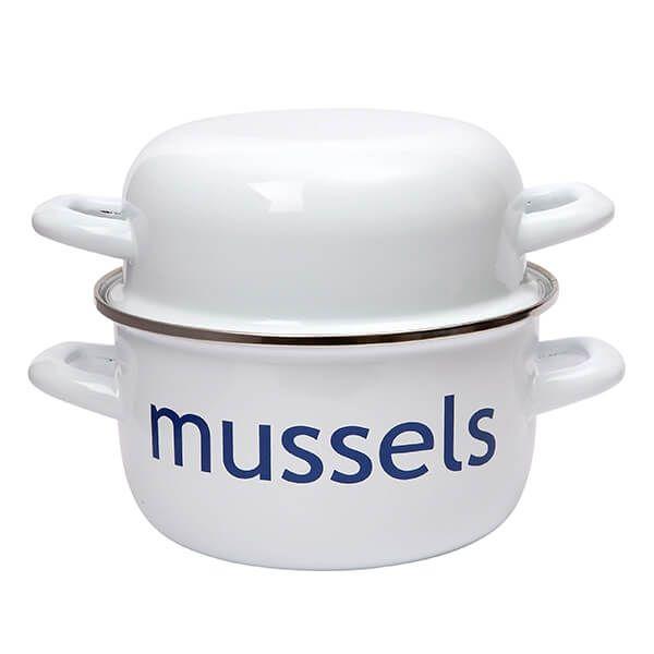Dexam Mussel Pot 20cm Enameled Steel