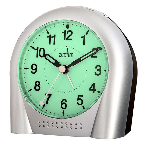 Acctim Sweeper Alarm Clock Silver