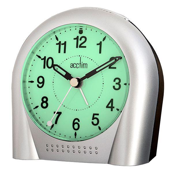 Acctim Sweeper Alarm Clock Silver
