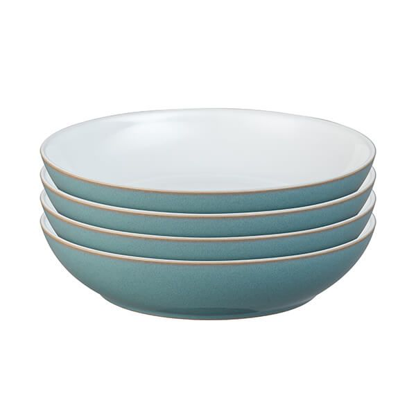 Denby Azure 4 Piece Pasta Bowl Set