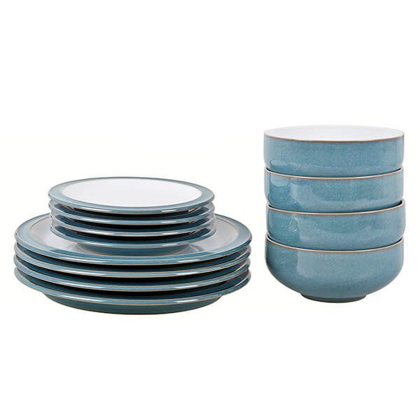Denby Azure 12 Piece Tableware Set