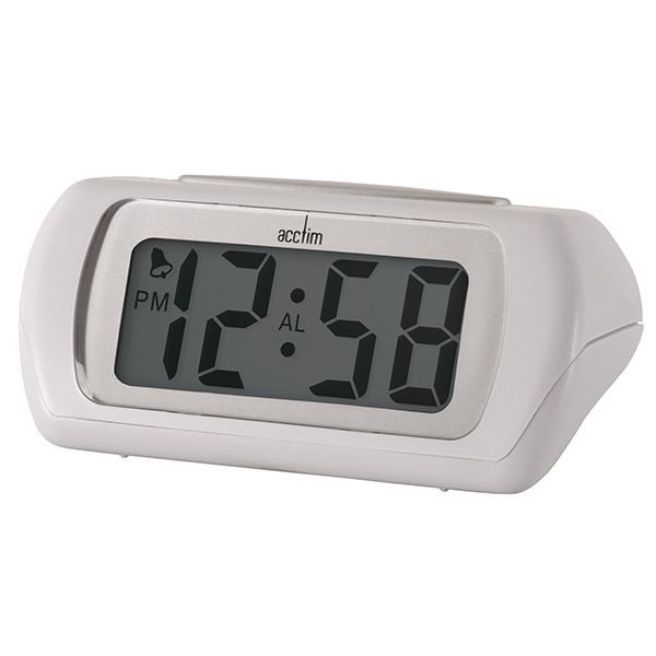 Acctim Auric Alarm Clock White