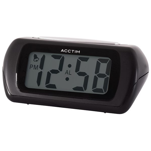Acctim Auric Alarm Clock Black