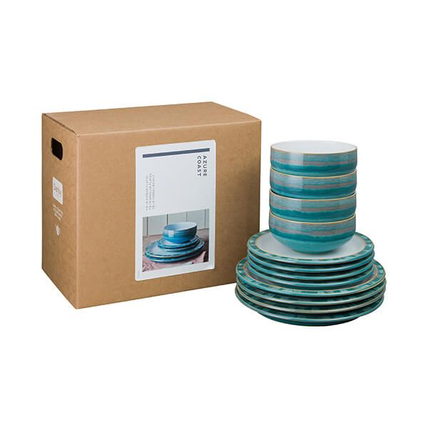 Denby Azure Coast 12 Piece Tableware Set