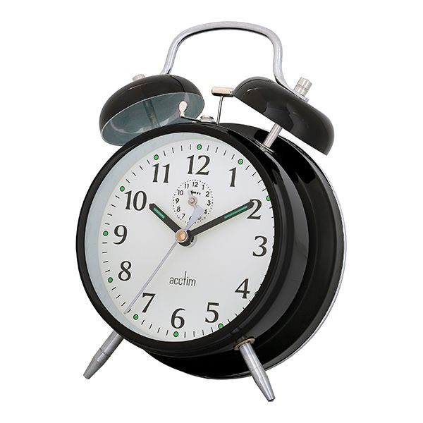 Acctim Saxon Alarm Clock Black