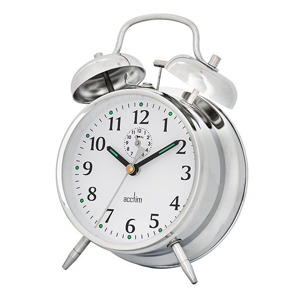 Acctim Saxon Alarm Clock Chrome