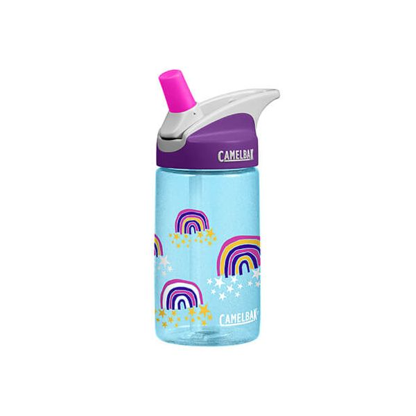 CamelBak 400ml Eddy Kids Glitter Rainbows Water Bottle