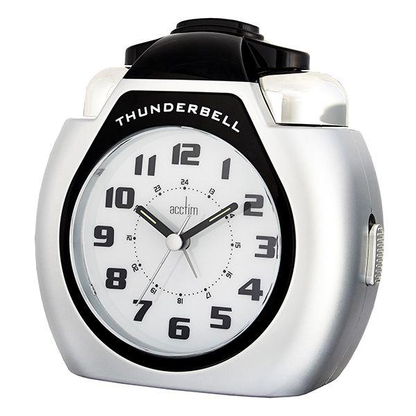 Acctim Thunderbell Alarm Clock Silver