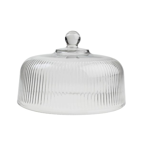 T&G Large Ribbed Glass Dome