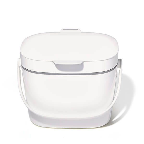 OXO Good Grips Easy-Clean White Compost Bin 6.62L