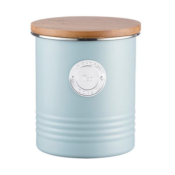 Typhoon Living 1 Litre Blue Tea Canister
