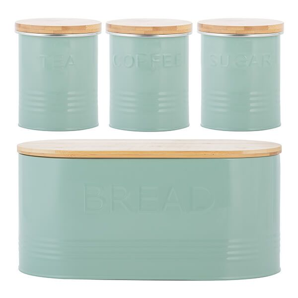 Typhoon Essentials 4 Piece Tea, Coffee, Sugar & Bread Set Pistachio