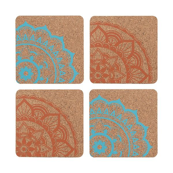 Typhoon World Foods Set 4 Cork Coasters