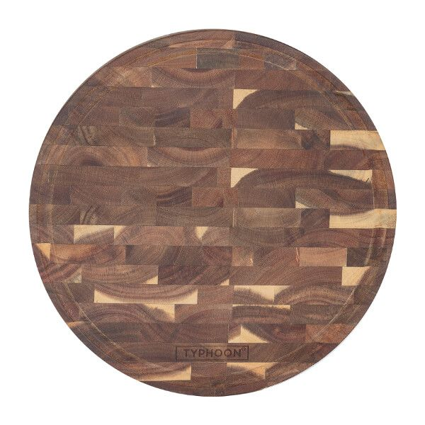 Typhoon World Foods End Grain Acacia Round Block 30cm