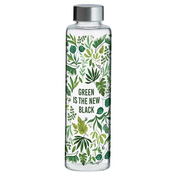 Typhoon Pure Green New Black Glass Bottle 600ml