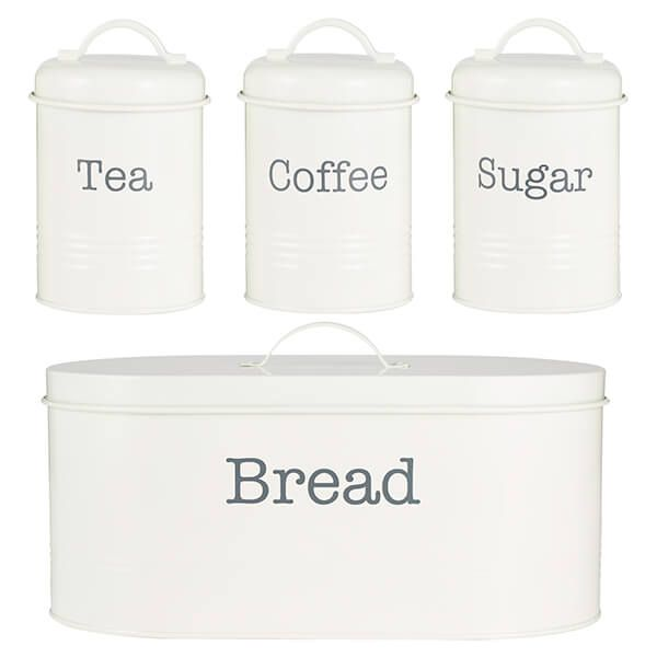 Typhoon Colonna 4 Piece Tea, Coffee, Sugar & Bread Set Cream