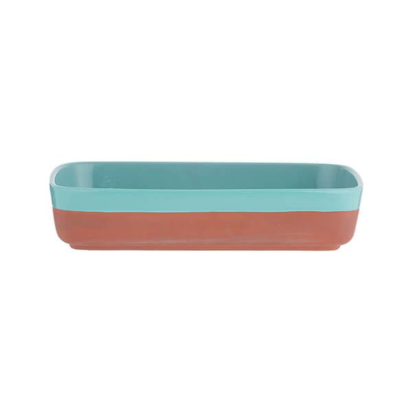 Typhoon World Foods 25 x 17.5cm Rectangular Dish Aqua