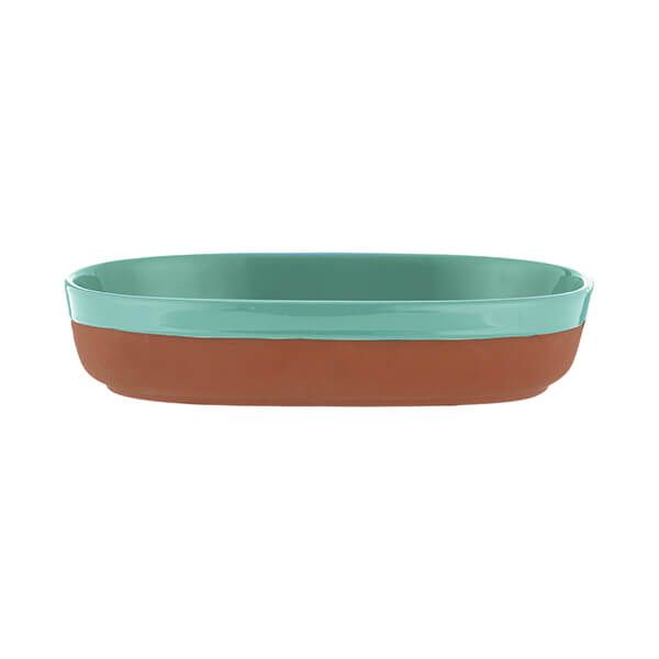 Typhoon World Foods 28 x 18cm Oval Dish Aqua
