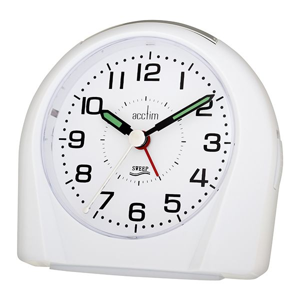 Acctim Europa Alarm Clock White