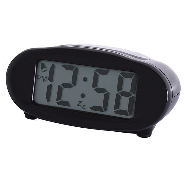 Acctim Eclipse Alarm Clock Black