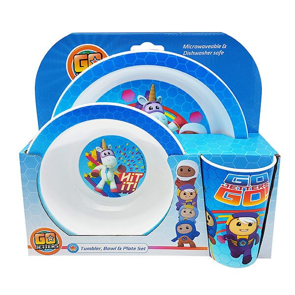 CBeebies Go Jetters 3 Piece Tableware Set