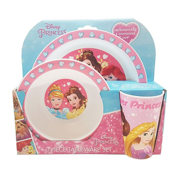 Disney Forever Princess 3 Piece Tableware Set