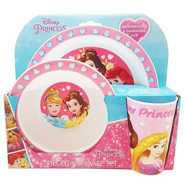 Disney Forever Princess 3 Piece Tableware Set