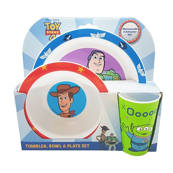 Disney Toy Story 3 Piece Tableware Set