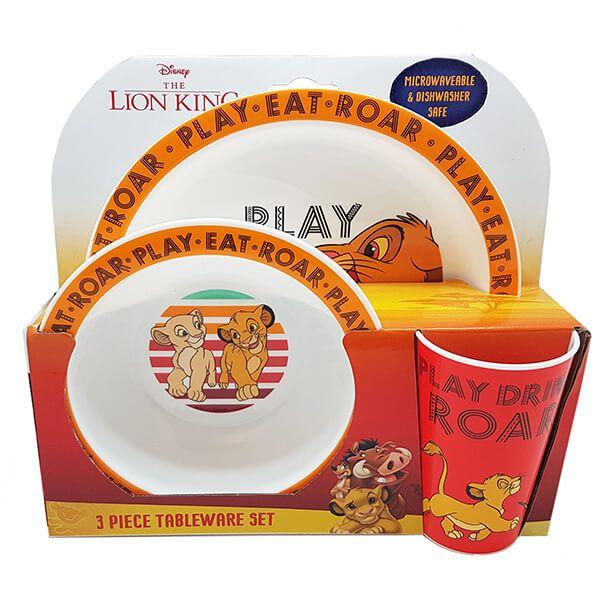 Disney Lion King 3 Piece Tableware Set