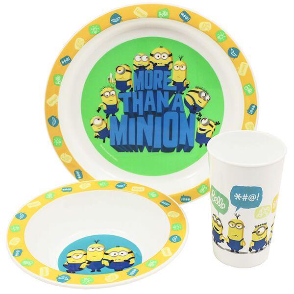 More Than a Minion 3 Piece Tableware Set