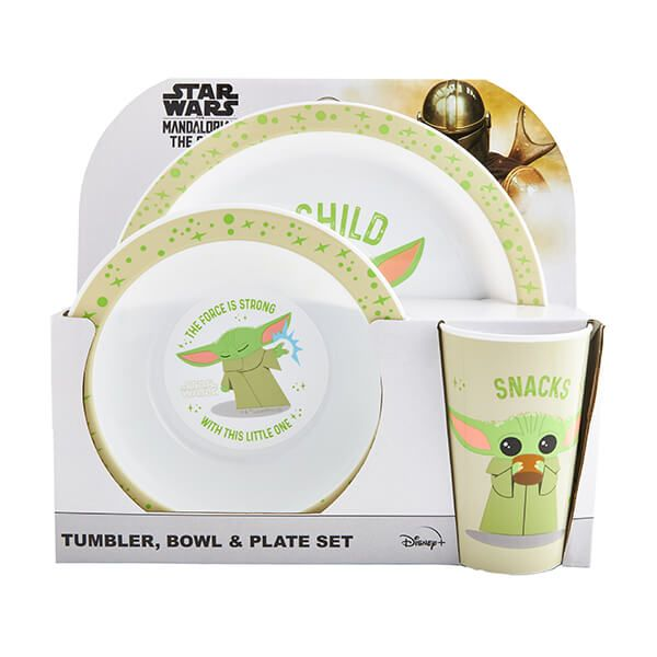 The Mandalorian Child 3 Piece Tableware Set