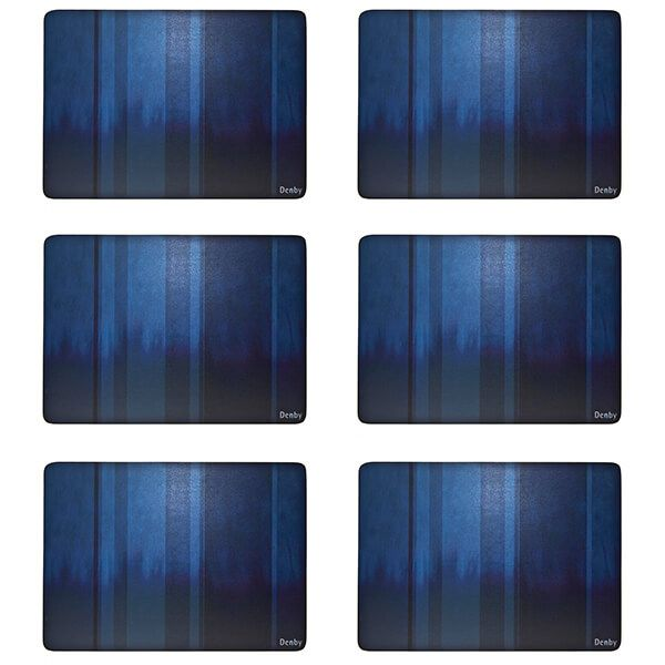 Denby Colours Blue 6 Piece Placemats