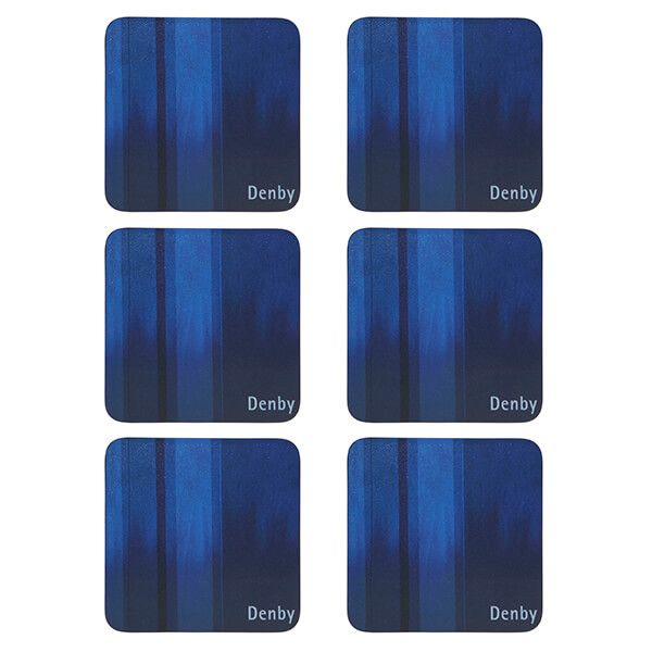 Denby Colours Blue 6 Piece Coasters