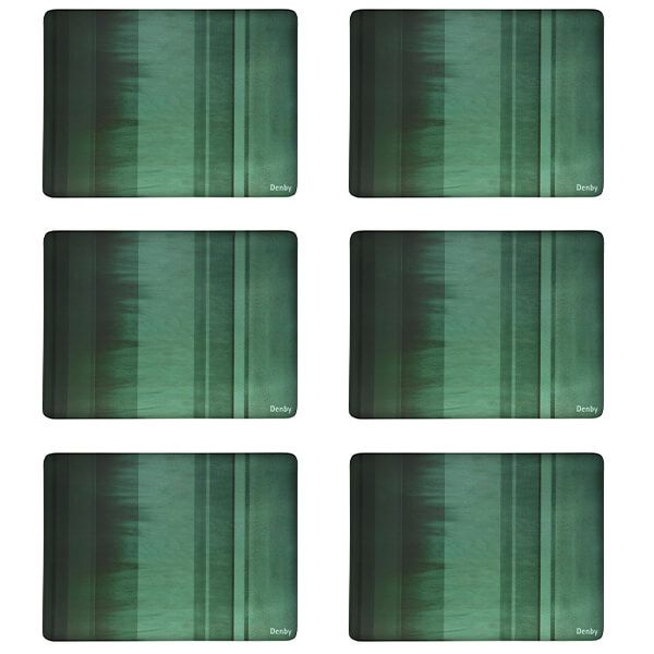 Denby Colours Green 6 Piece Placemats