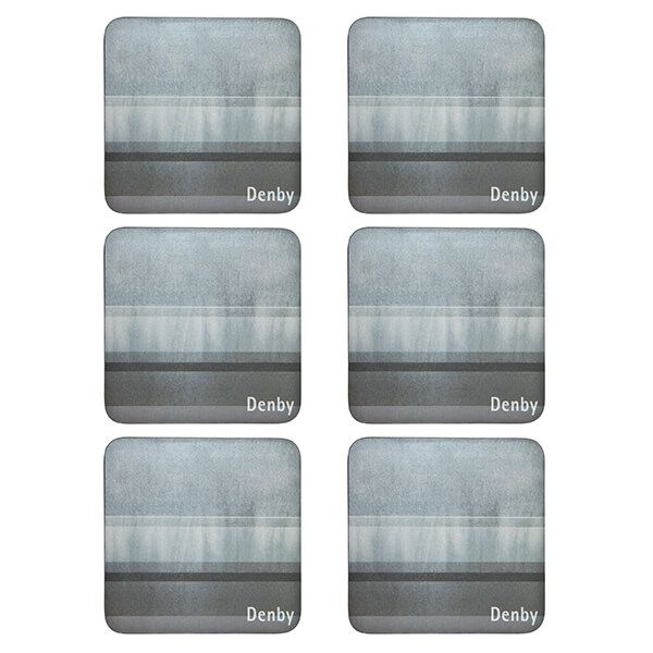 Denby Colours Grey 6 Piece Coasters