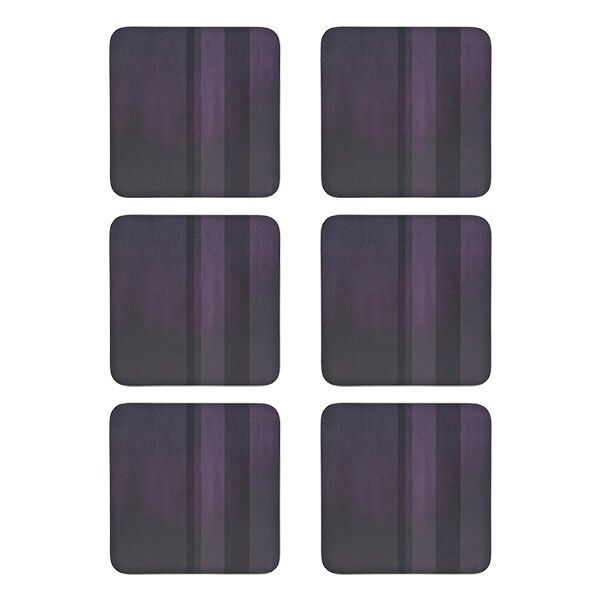 Denby Colours Set Of 6 Purple Coasters