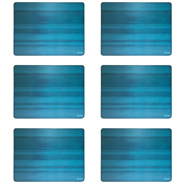 Denby Colours Turquoise 6 Piece Placemats