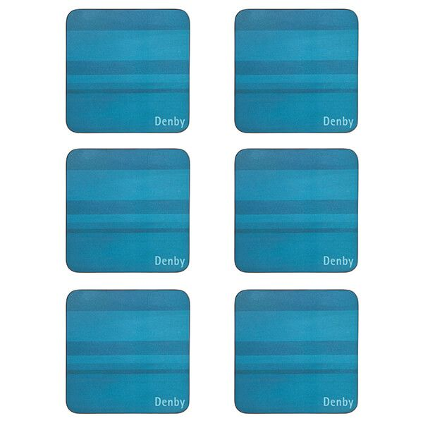 Denby Colours Turquoise 6 Piece Coasters