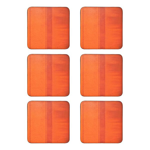 Denby Colours Set Of 6 Orange Coasters