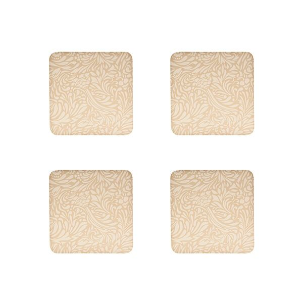 Denby Monsoon Lucille Gold Set Of 4 Coasters