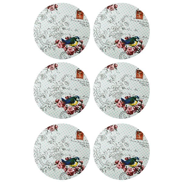 Denby Set Of 6 Vintage Bird Placemats