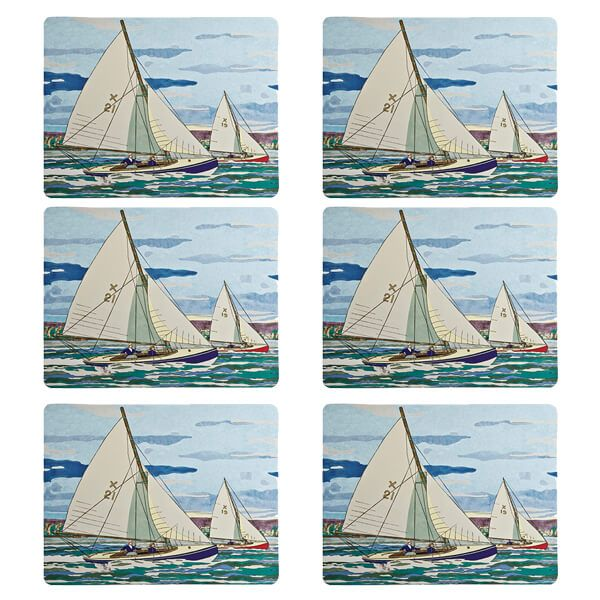 Denby Set Of 6 Sailing Placemats