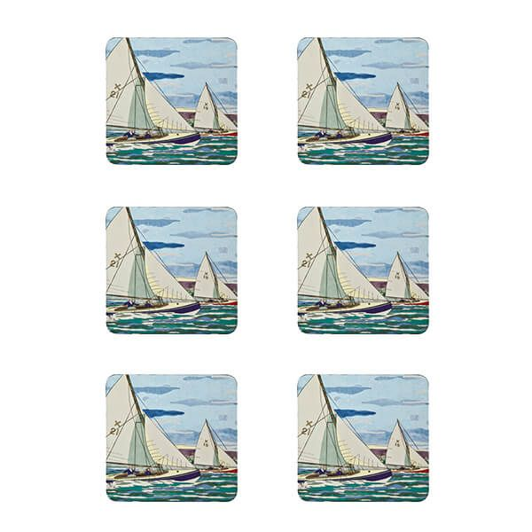 Denby Set Of 6 Sailing Coasters
