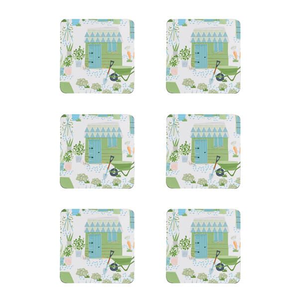 Denby Set Of 6 Allotment Coasters
