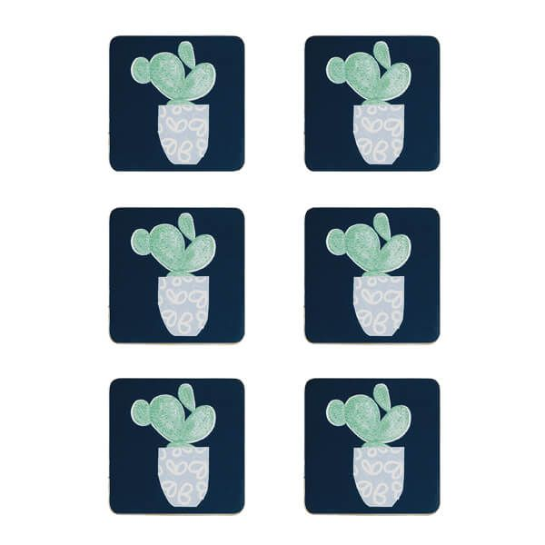 Denby Set Of 6 Cacti Coasters