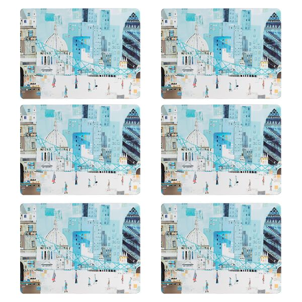 Denby Set Of 6 London Scene Placemats