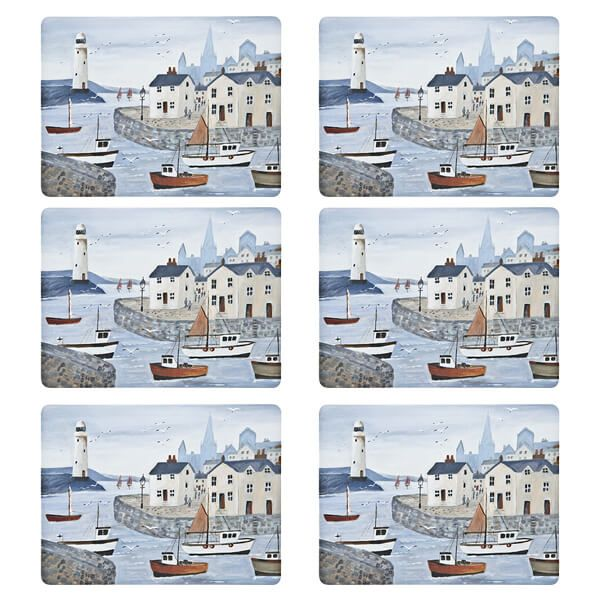 Denby Set Of 6 Coastal Lighthouse Placemats
